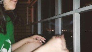 Smoking Teen Young Brunette